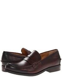 Slippers en cuir marron foncé