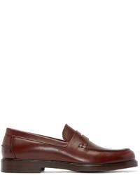 Slippers en cuir marron A.P.C.