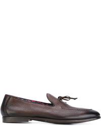Slippers en cuir marron Doucal's
