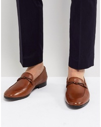 Slippers en cuir marron Dune