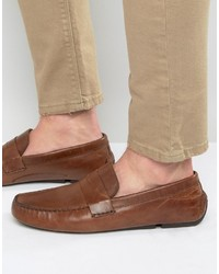 Slippers en cuir marron Red Tape
