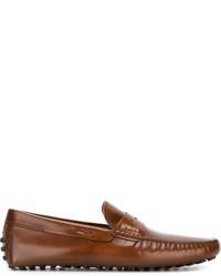 Slippers en cuir marron Tod's