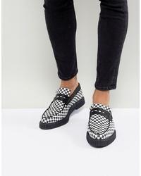 Slippers en cuir noirs et blancs ASOS DESIGN
