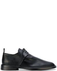 Slippers en cuir noirs Ann Demeulemeester