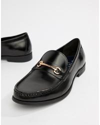 Slippers en cuir noirs Ben Sherman