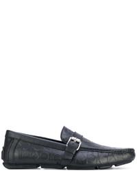 Slippers en cuir noirs Calvin Klein