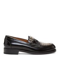 Slippers en cuir noirs Christian Louboutin