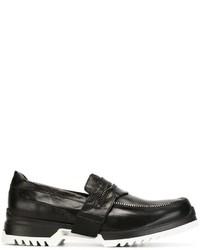Slippers en cuir noirs Diesel