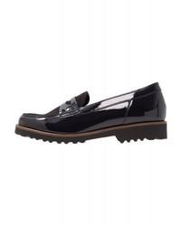 Slippers en cuir noirs Gabor