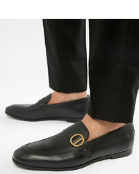 Slippers en cuir noirs Kg Kurt Geiger
