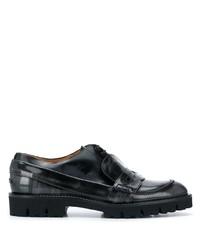 Slippers en cuir noirs Maison Margiela