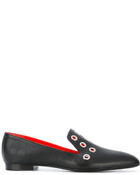 Slippers en cuir noirs Proenza Schouler