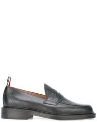 Slippers en cuir noirs Thom Browne