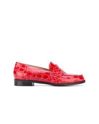 Slippers en cuir rouges Antonio Barbato