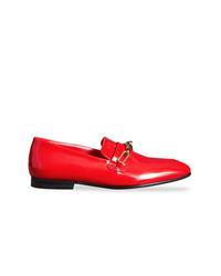 Slippers en cuir rouges Burberry