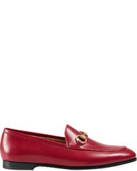 Slippers en cuir rouges Gucci