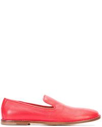 Slippers en cuir rouges Officine Creative