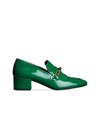 Slippers en cuir verts Burberry