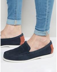 Slippers en daim bleu marine Lacoste
