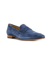 Slippers en daim bleu marine Tod's