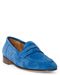 Slippers en daim bleus