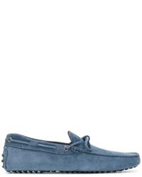 Slippers en daim bleus Tod's