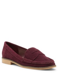 Slippers en daim bordeaux