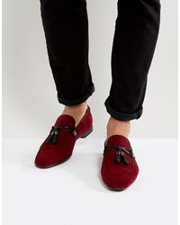 Slippers en daim bordeaux Asos