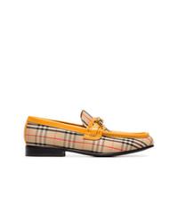 Slippers en daim bruns clairs Burberry