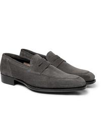 Slippers en daim gris foncés