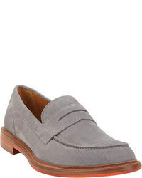 Slippers en daim gris