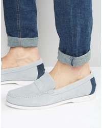 Slippers en daim gris Lacoste