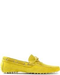 Slippers en daim jaunes