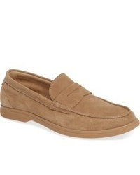 Slippers en daim marron clair