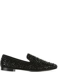 Slippers en daim noirs Giuseppe Zanotti Design