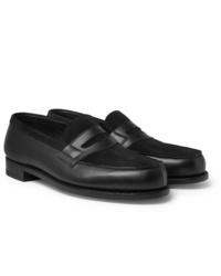 Slippers en daim noirs J.M. Weston