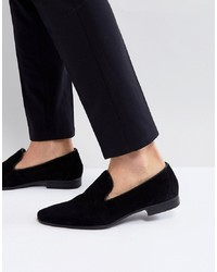 Slippers en daim noirs Pier One