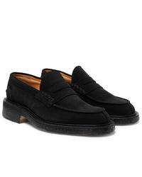 Slippers en daim noirs Tricker's