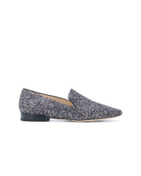 Slippers pailletés bleu marine Jimmy Choo
