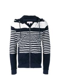 Sweat à capuche à rayures horizontales blanc et bleu marine Orlebar Brown