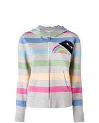Sweat à capuche à rayures horizontales multicolore Marc Jacobs