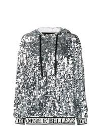 Sweat à capuche argenté Dolce & Gabbana
