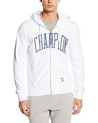 Sweat à capuche blanc Champion