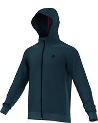 Sweat à capuche bleu canard adidas