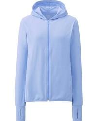 Sweat à capuche bleu clair