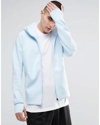 Sweat à capuche bleu clair adidas