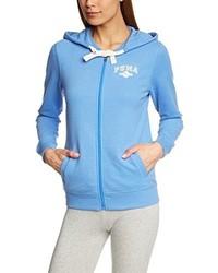 Sweat à capuche bleu clair Puma