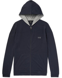 Sweat à capuche bleu marine Hugo Boss