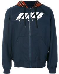 Sweat à capuche bleu marine Kenzo