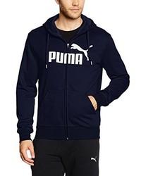 Sweat à capuche bleu marine Puma